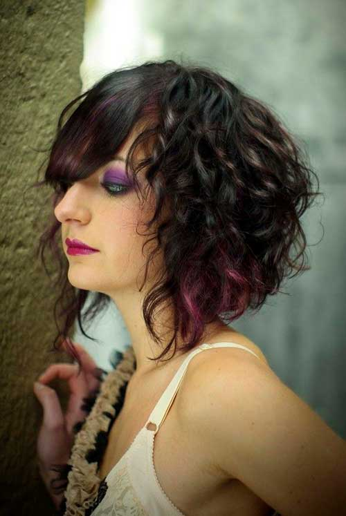 Short Haircuts For Curly Hair | The Best Short Hairstyles ... Asymmetrical Bob Curly