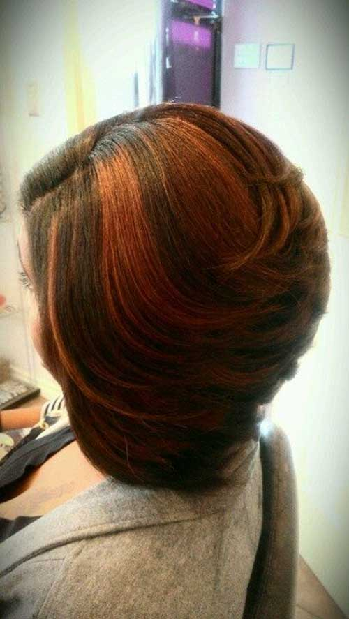 Thick Inverted Bob Hairstyle with Two Color