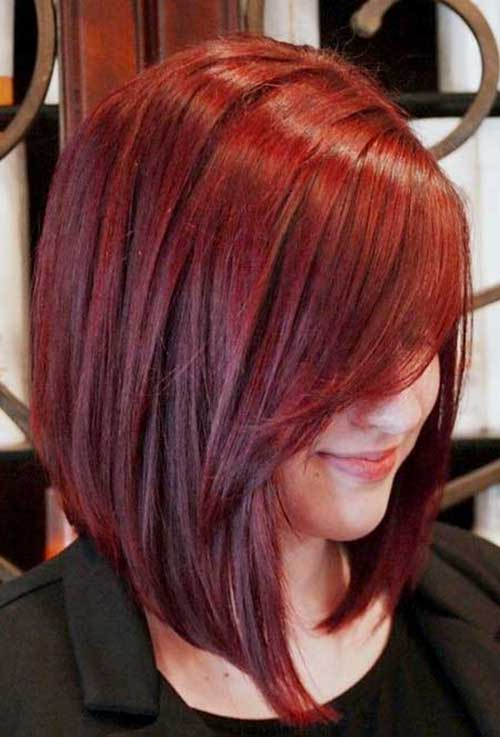 Red Hair Color Trendy Short Hairstyles