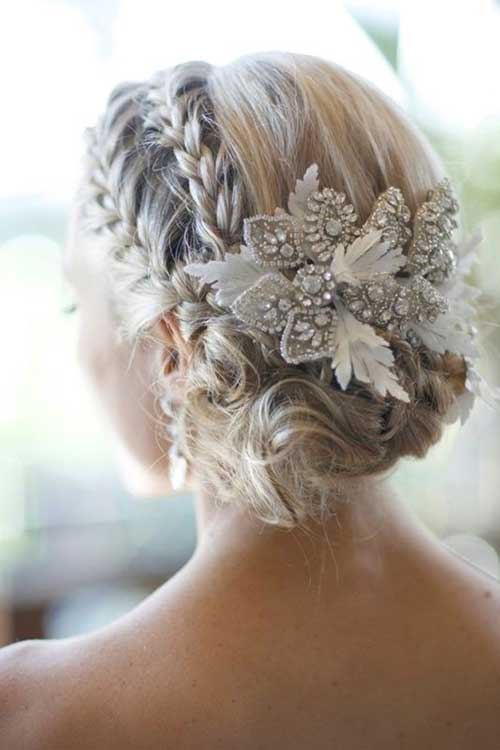 Beauty Updos Flower Wedding Hairstyles