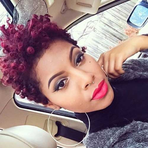 Red Curly Hair for Black Women Stlyes