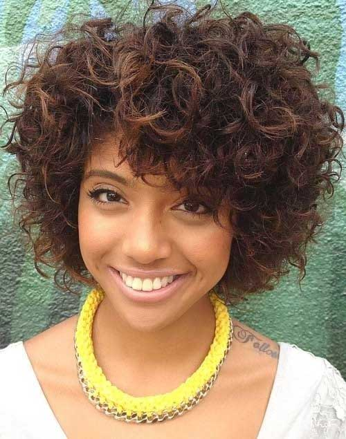 Cute Black Girl Short Curly Hairstyles 2015