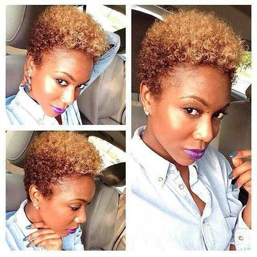 Tapered Natural Hair with Color