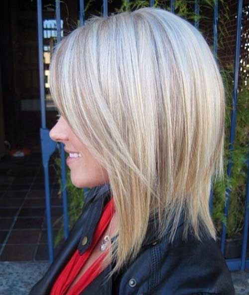 Bob Hairstyle with Platinum Lights