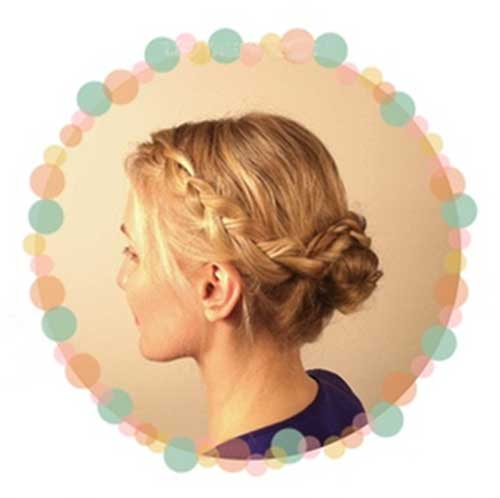 Braided Hair with Updo Hairstyles 2015