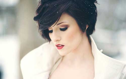 Chic Dark Pixie Cut for Women