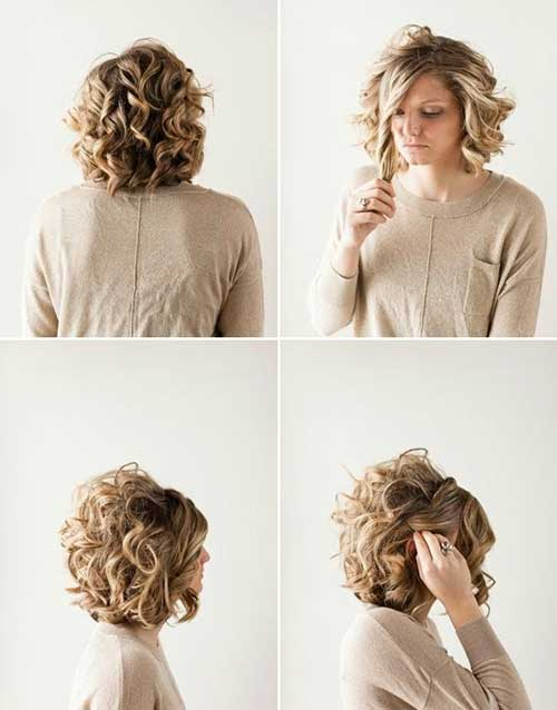 Casual Curly Blonde Hairstyles for Girls