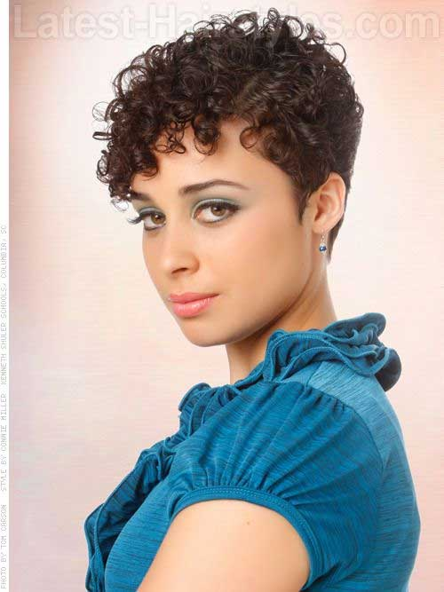 Curly Very Short Pixie Cuts