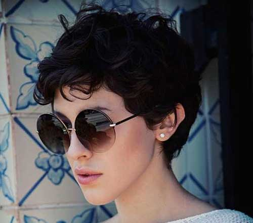 Casual Style Curly Pixie Cut