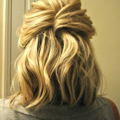 Cute Easy Twisted Half Up Short Hairstyles