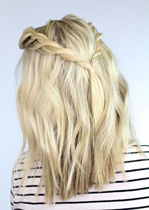 Braided Cute Short Haircuts for Blonde Girls