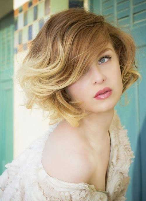 Best Short Blonde Ombre Bob Hairstyle
