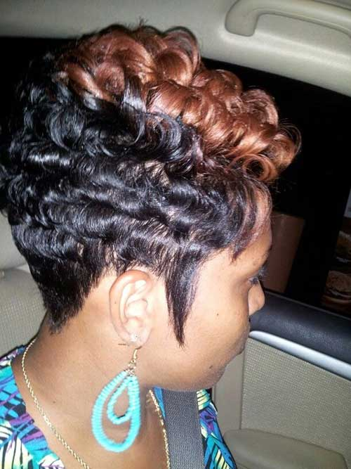 Curly Different Cut and Color