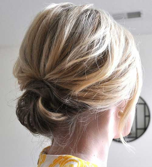 Updos For Short Hair Easy Chic Easy Updos For Short Hair