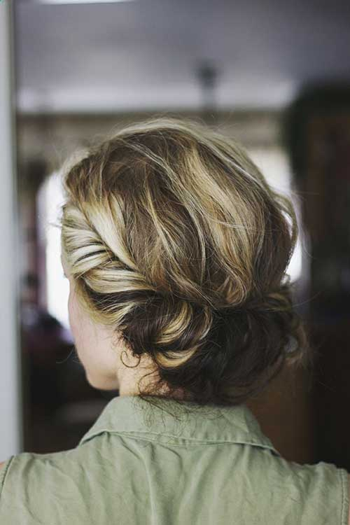 French Style Easy Updo Hair