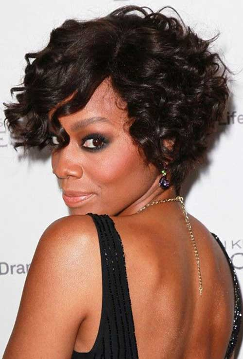 Great Black Curly Short Hairstyle 2015