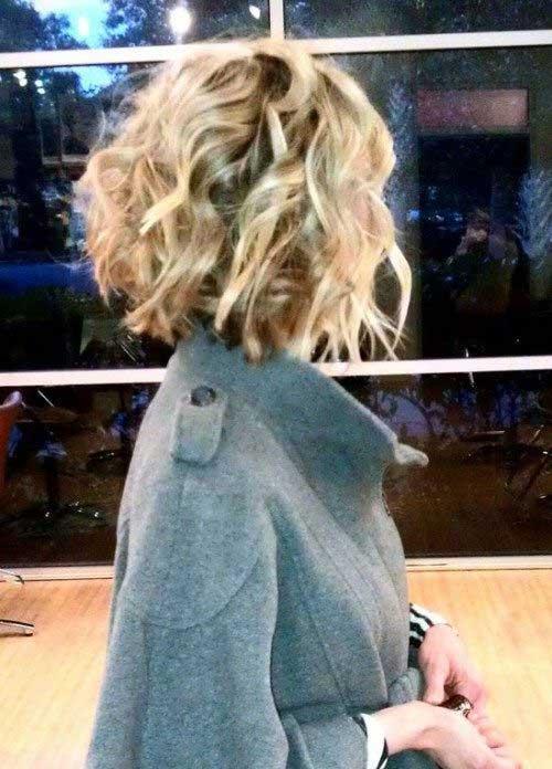 Bob Haircuts for Short Curly Hair 2015