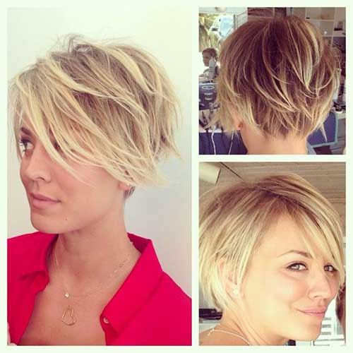 Kaley Cuoco Blonde Hairstyles 2015