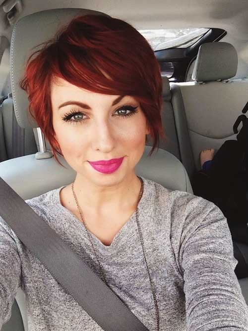 Longer Red Pixie Hairstyles 2015