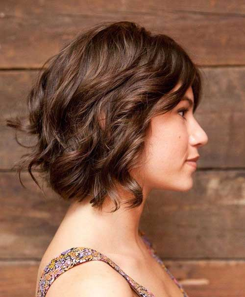 Soft Loose Curls Short Hair