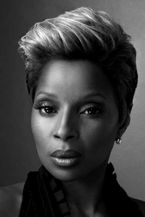 Mary J. Blige Slicked Hairstyles