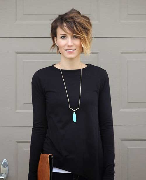 Pixie Cut With Ombre Color Ombre Colored Long Pixie