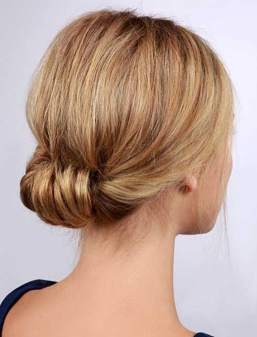 Cute Rolled Updo for Short Hair