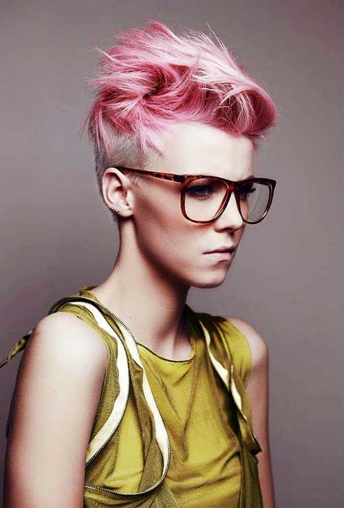 Short Colored Hairstyles 2015