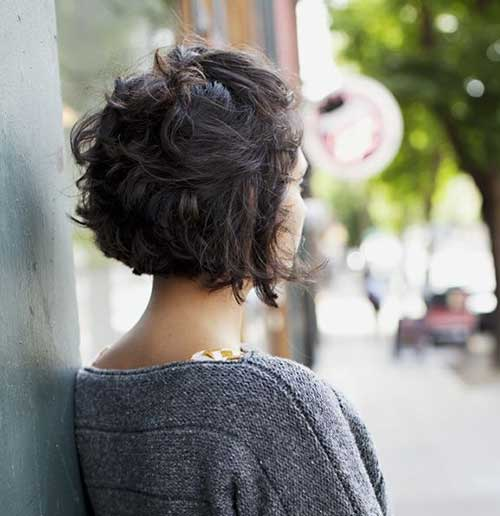 Short Cuts for Curly Dark Hair Back View