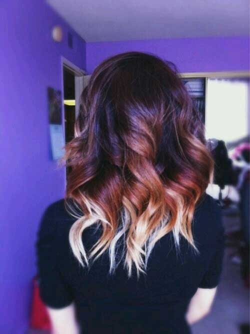 Short Hair Dark Ombre Colors