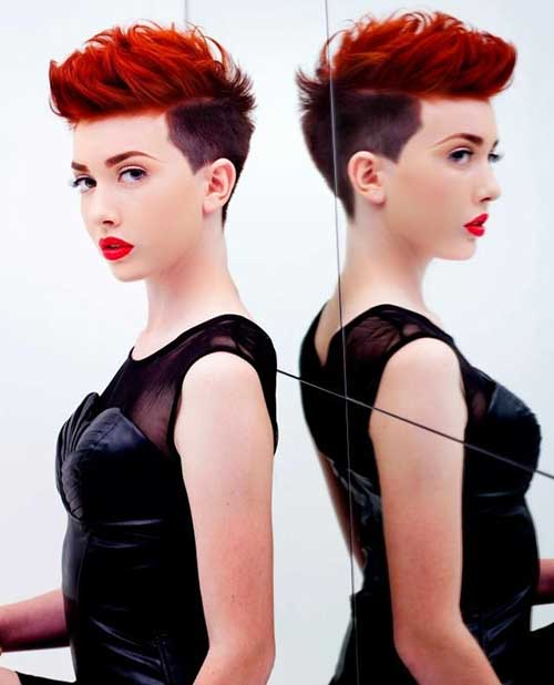 Short Red Pixie Hairstyles 2015