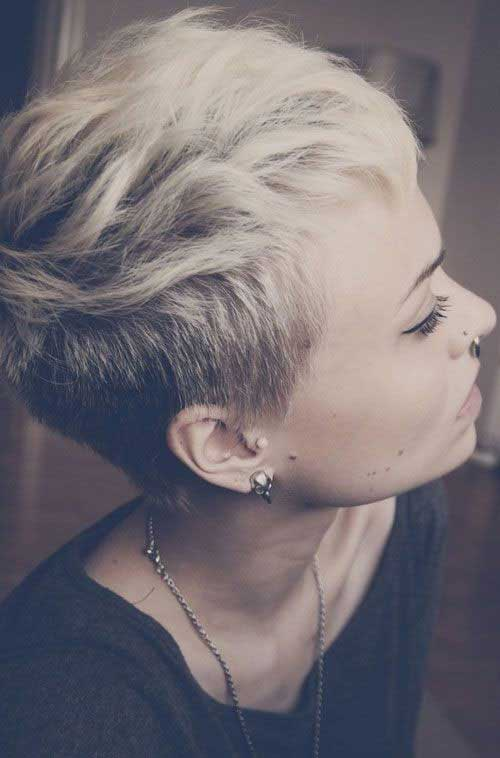 Side Shaved Long Pixie Hairstyles