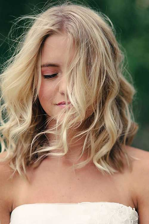 Wavy Thick Blonde Highlighted Hair