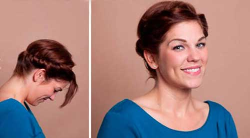 Twisted Cute Updo for Short Hair
