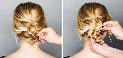 Cute Easy Twisted Updo Short Hair