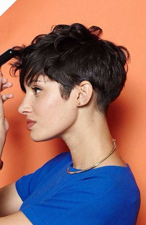 Wavy Longer Pixie Cut