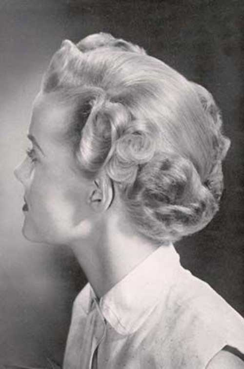 50s Short Curly Hair Back View