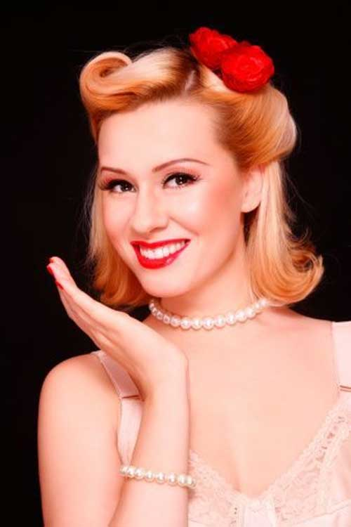 50s updo hairstyles : with Vintage Pin Up Hairstyles Long Hair also Retro Vintage Hairstyles ...