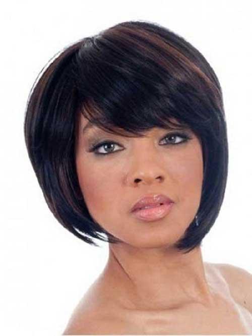 Asymmetrical Bob Hair with Bangs for Black Women