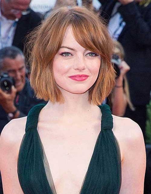 Emma Stone Auburn Bob Hair