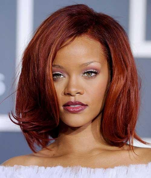 Rihanna Auburn Bob