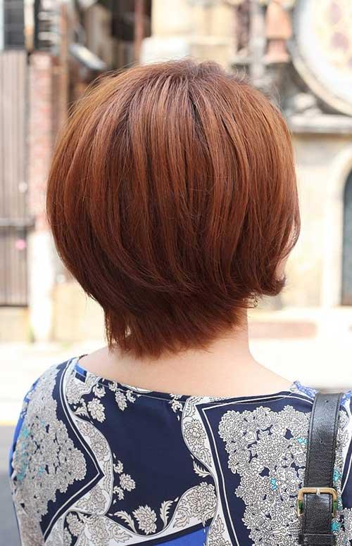 Auburn Short Hair Back View