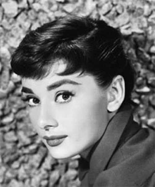 Audrey Hepburn 50's Short Hair