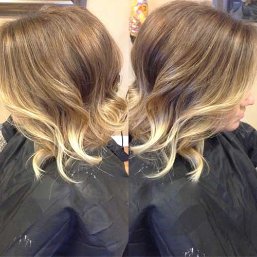 New Balyage Ombre on Short Haircut