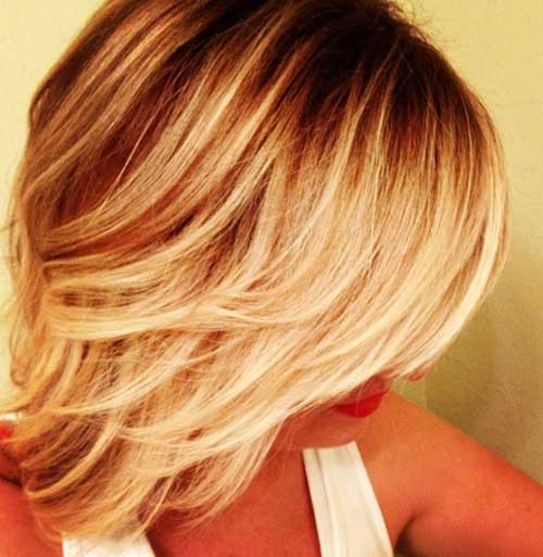 Blonde Balyage and Ombre for Short Hair
