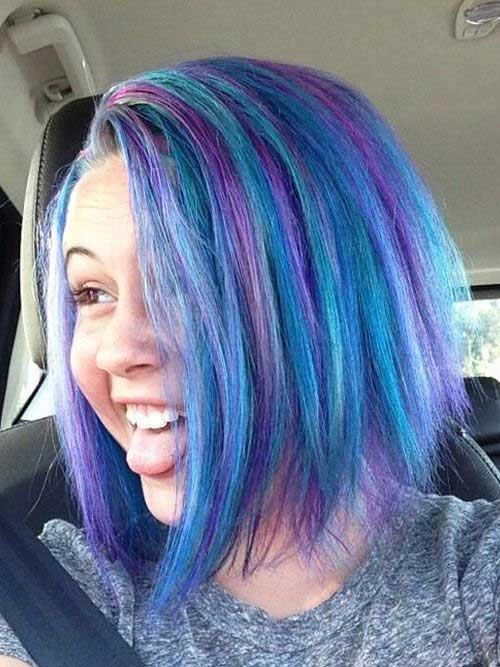 Bright Blue Short Hair Bea Miller Blue Short Hair