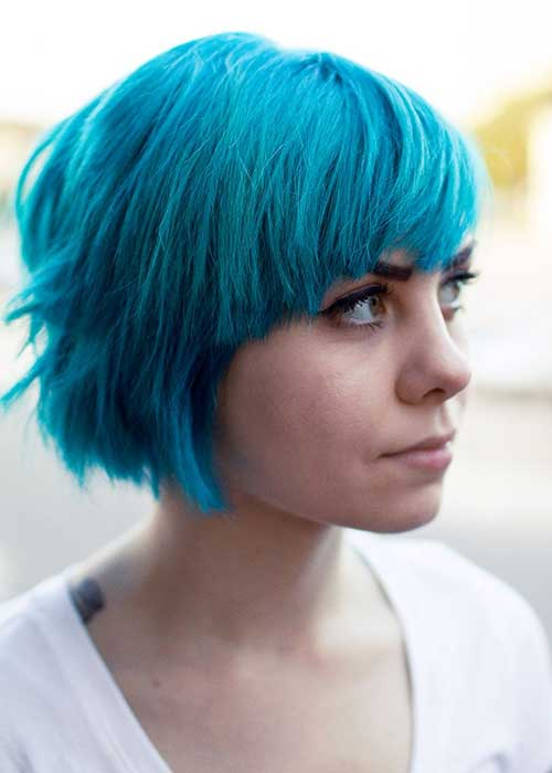 Best Blue Colored Short Hair