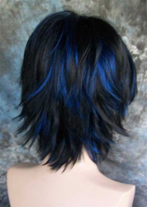 Best Black Hair with Blue Highlights