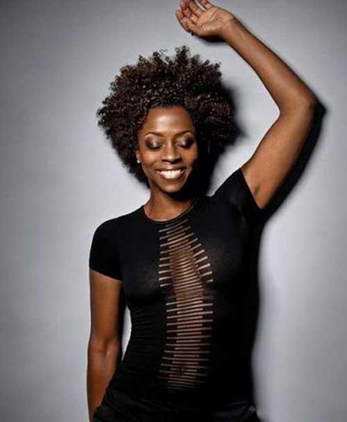 Black Women Curly Afro Hair