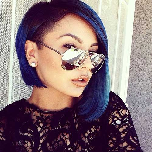 Blue Ombre Idea for Short Haircuts